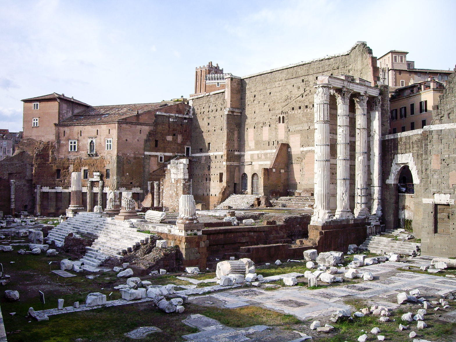 Forum of Augustus, Ancient Roman remains, Rome, Italy