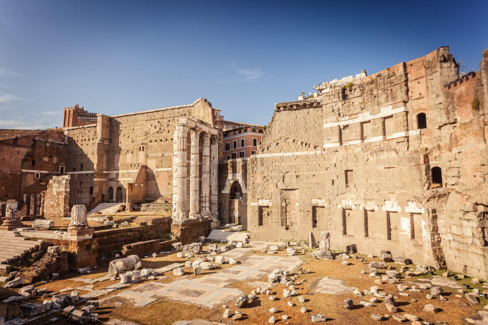 Forum of Augustus (Foro di Augusto), one of the Imperial forums of Rome.