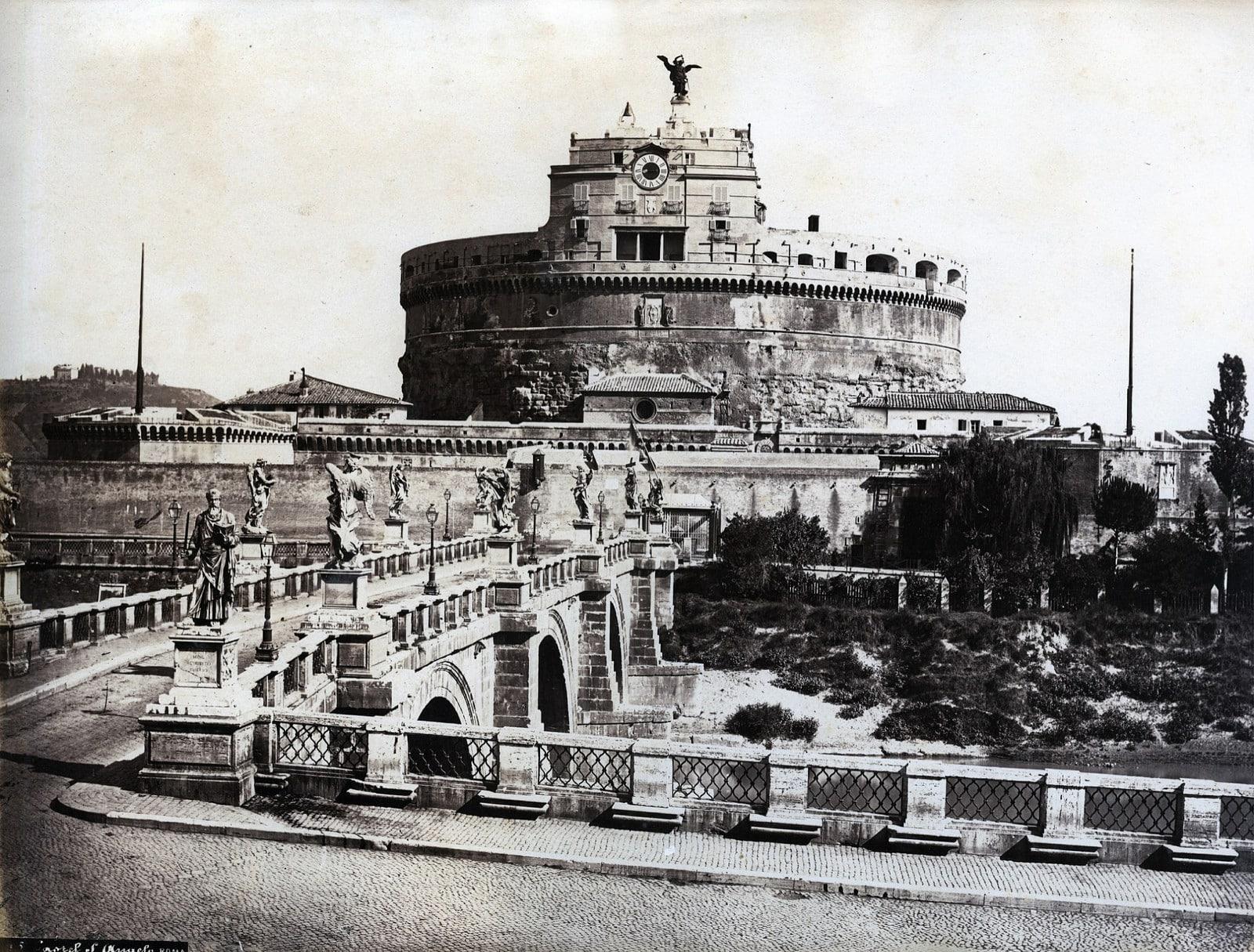 Giacchino Altobelli - Hadrian's Tomb, Rome, ca 1860