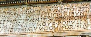 Inscription Details, Arch of Septimius Severus