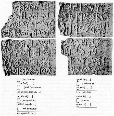 Latin Inscription of Lapis Niger