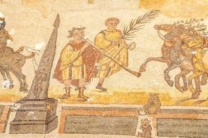 Mosaic of Circus Maximus in palaestra - Villa Romana del Casale
