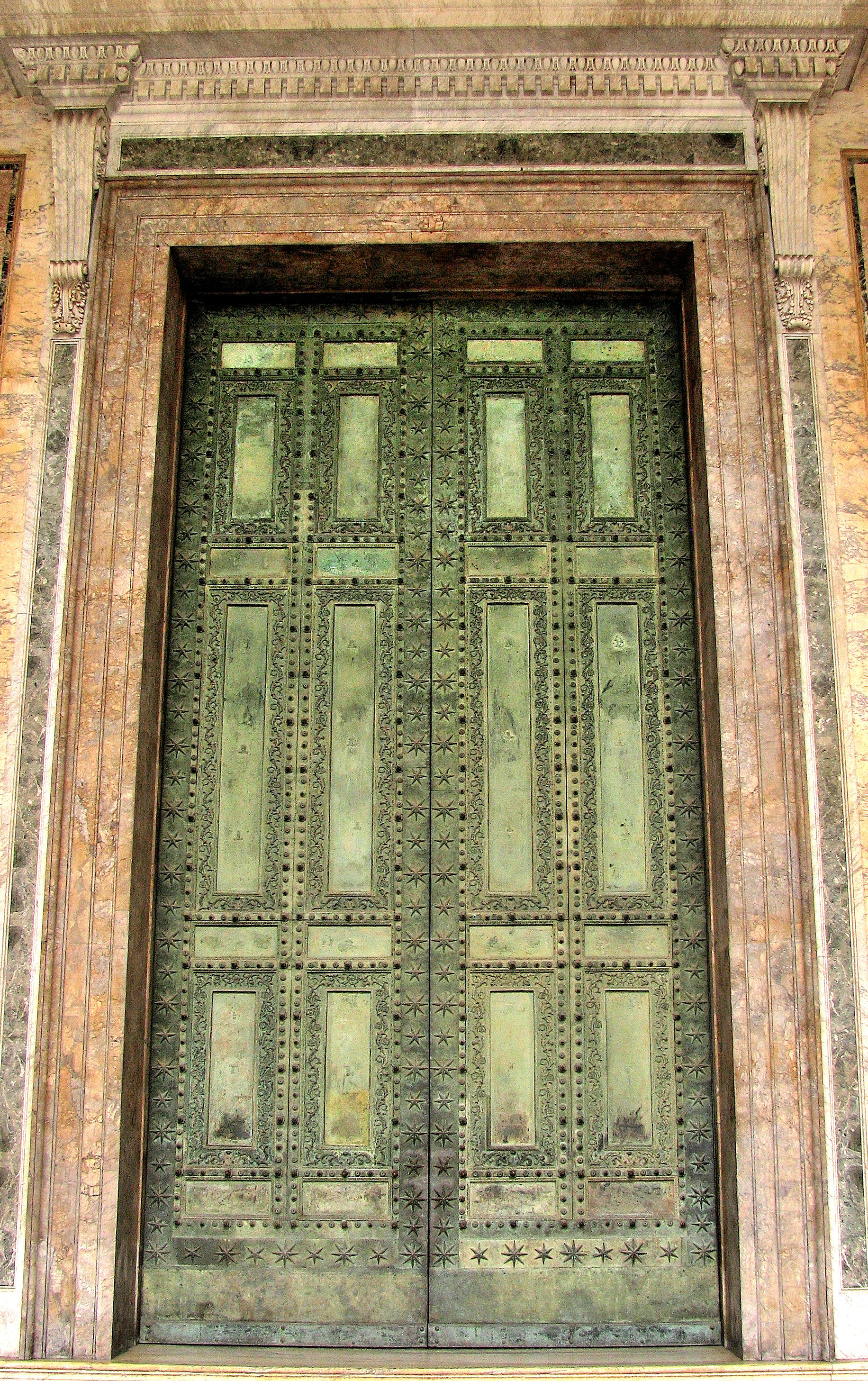 Original Bronze Door of Curia - Now in Lateran Basilica