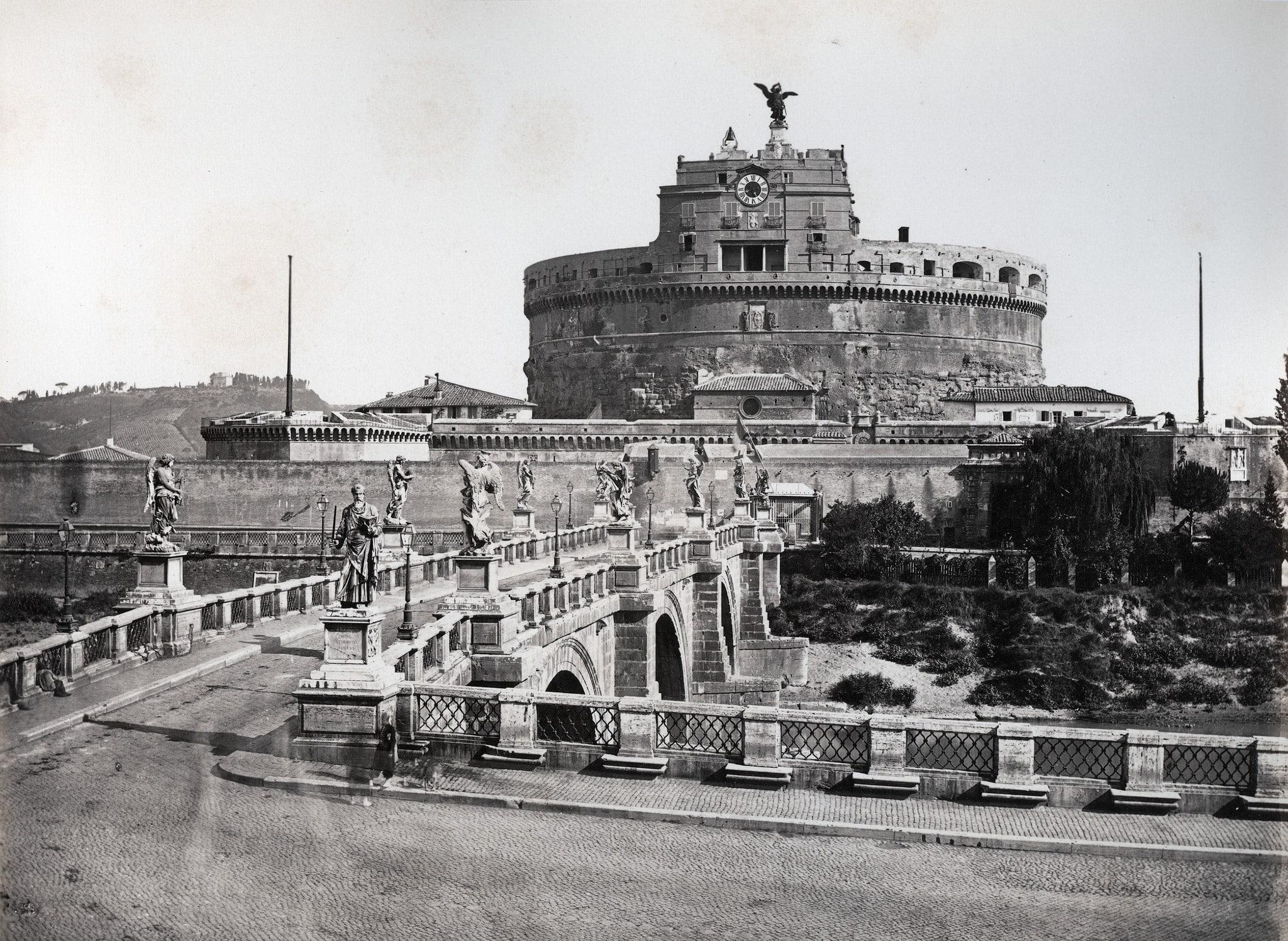 Pompeo Molins - Castel Sant' Angelo, ca 1860