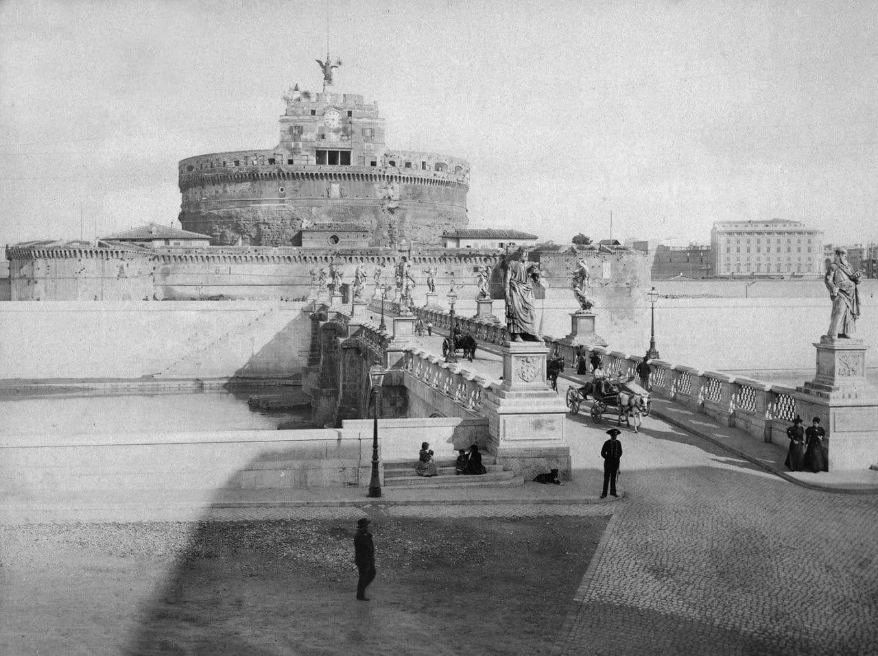 Ponte Sant'Angelo. Rome, Italy ca. 1875