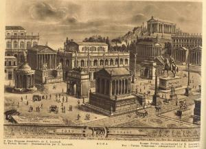 Reconstructed sketch of Roman Forum by E. Laurenti
