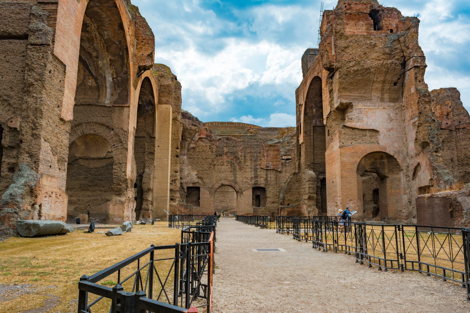 Ruins of the Baths of Caracalla (Terme di Caracalla), one of the most important baths of Rome at the time of the Roman Empire.