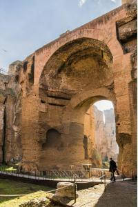 Ruins of the Baths of Caracalla (Terme di Caracalla). These were one of the most important baths of Rome at the tim