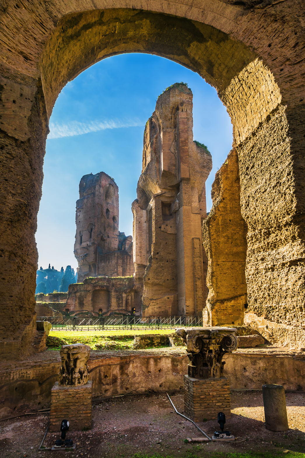 Ruins of the Baths of Caracalla (Terme di Caracalla). These were one of the most important baths of Rome at the time of the Roman Empire.