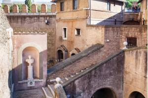 Steps in inner yard of Castel Sant Angelo