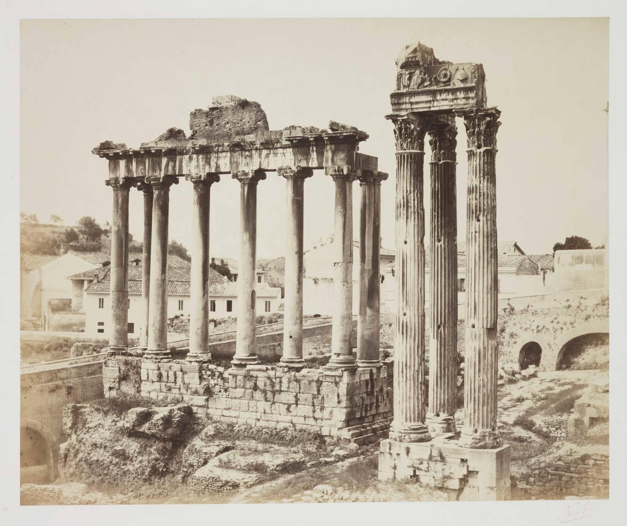 Temple de la Concorde, Rome about 1860;