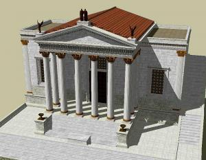 Temple of Concord by the model maker, Lasha Tskhondia