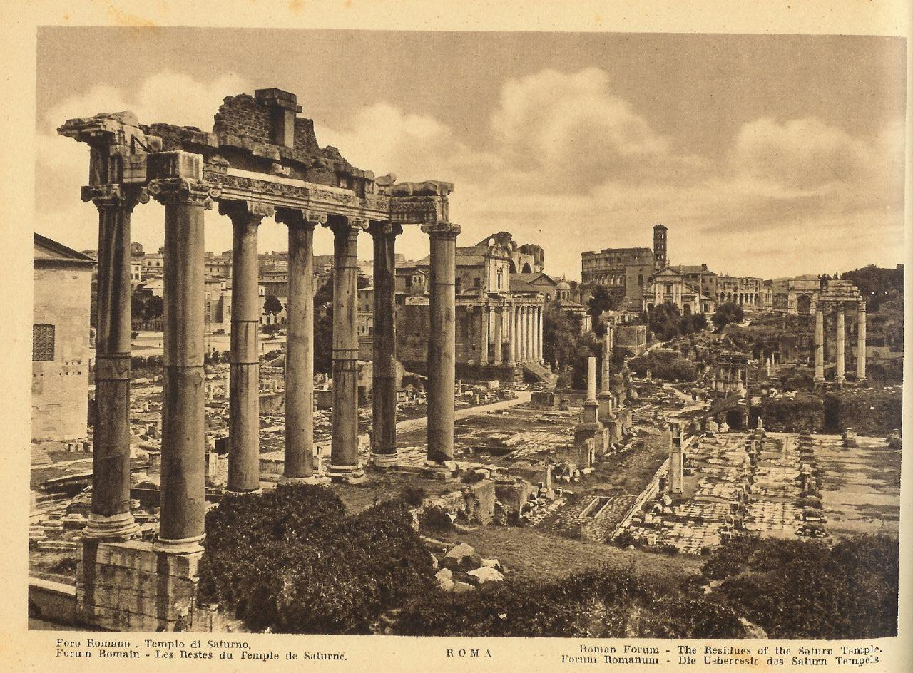 Temple of Saturn in Old Photos