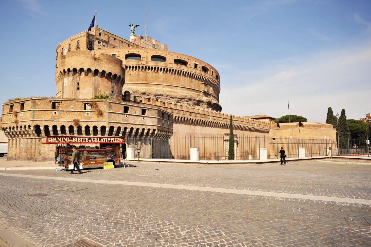 The Mausoleum of Hadrian, usually known as the Castel Sant'Angelo,