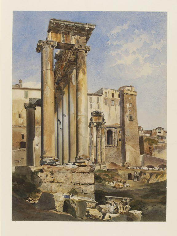 The Temple of Saturn and the Temple of Concord, Rome Cromek, Thomas Hartley, born 1809 - died 1873 .