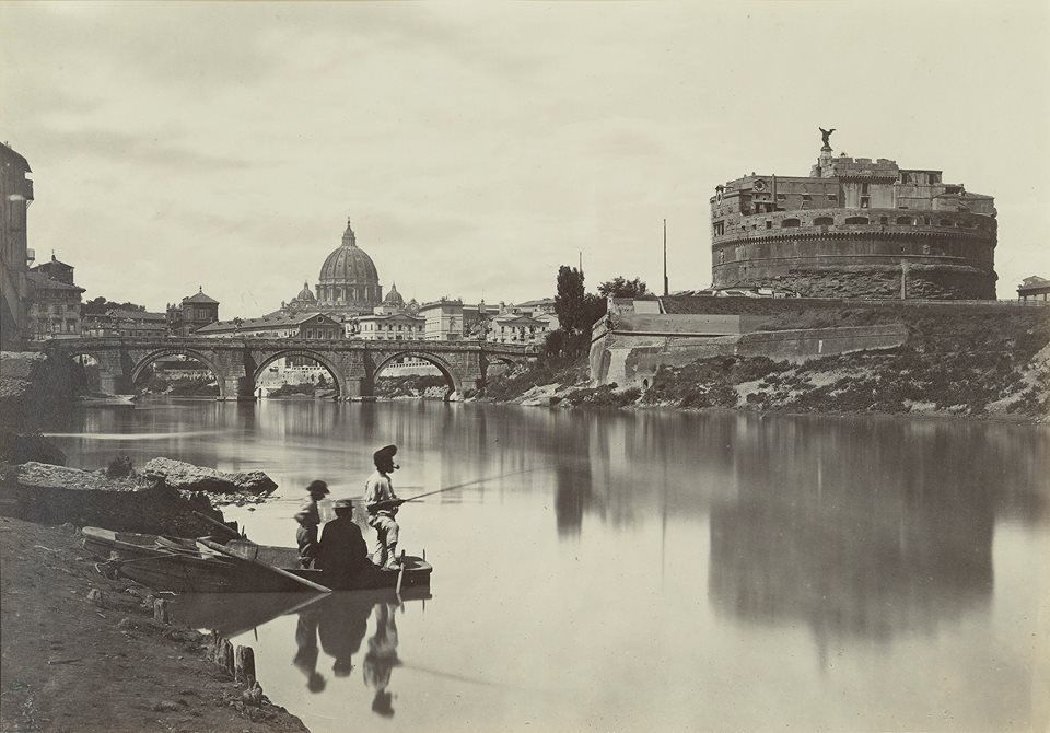 The Tiber with Castel Sant'Angelo and St. Peter's Cathedral, Rome, 1868