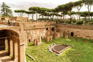 The ruins of the Hippodrome of Domitian on the Palatine Hill