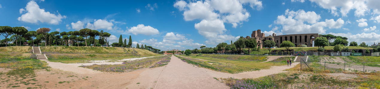 Panoramic view of Circus Maximus