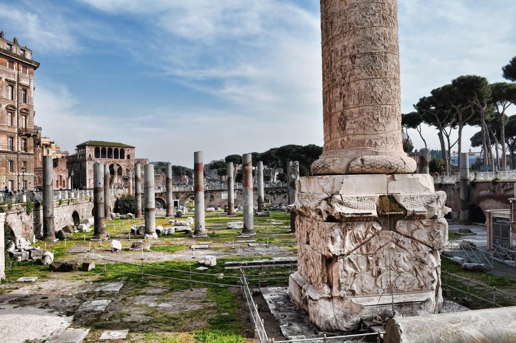 Trajan's Column a Roman triumphal column in Rome, Italy