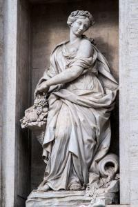 Allegorical sculpture Abundance (Filippo Valle 1697-1768).