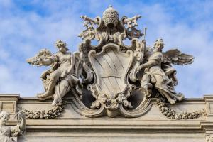Trevi Fountain - coat of arms of the Pope.