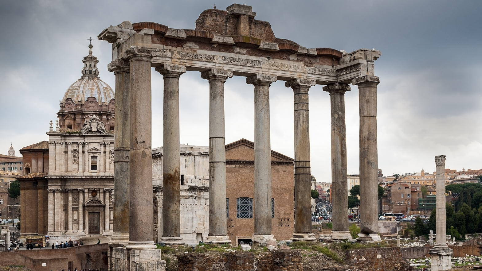 View of ancient Rome-Temple of Saturn