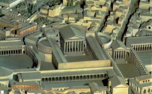 reconstruction sketch of Forum of Augustus