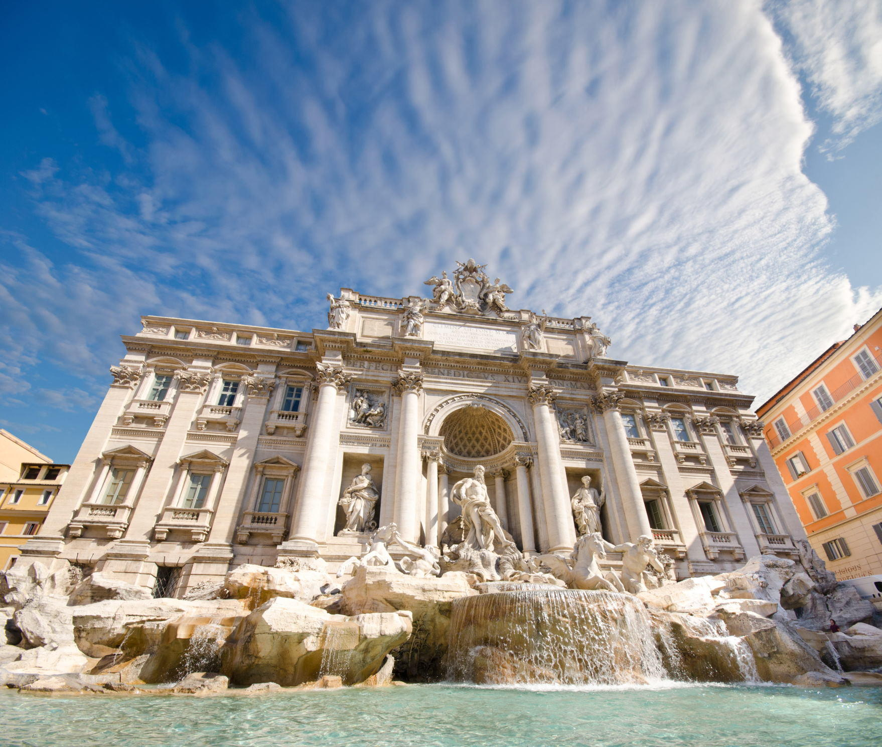view of The Famous Trevi Fountain, rome, Italy