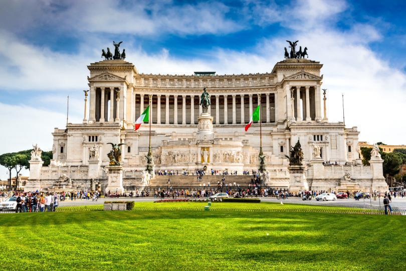 Altar of the Fatherland (Altare della Patria) known as Vittoriano. Rome, Italy, Piazza Venezia.