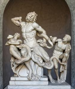 Statue of Laocoön and his Sons in Vatican, Italy.