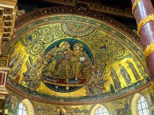 Apse mosaic of Santa Maria Maggiore - Coronation of the Virgin - Completed in 1296.