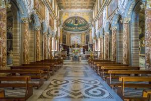 Basilica of San Marco near Venezia Palace and Campidoglio in Rome, Italy.