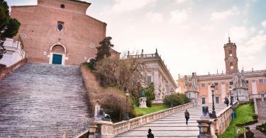 Basilica of Santa Maria in Aracoeli and Capitoline Hill, Rome, Italy.