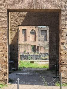 Brick doorways at Domus Augustana in the Palatine Hill