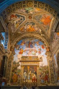 Carafa Chapel in the Church of Santa Maria sopra Minerva in Rome, Italy.