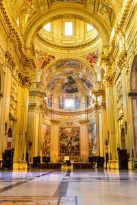 Church Sant'Andrea della Valle, Piazza Vidoni, built in Baroque style, 1608 AD. Rome, Italy.