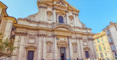Church of St. Ignatius of Loyola at Campus Martius (Italian Chiesa di Sant'Ignazio di Loyola in Campo Marzio. Italy.