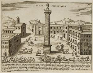 Column of Antoninus Pius - Drawing by Jacobo Lauro (C1570-1630), 1628