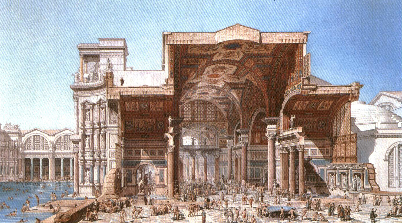 Baths of Diocletian - Colosseum Rome Tickets Baths Of Caracalla Reconstruction