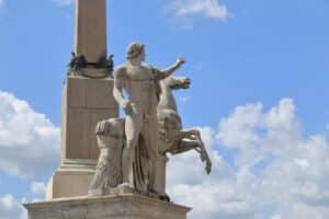 Detail of obelisk in Piazza del Quirinale