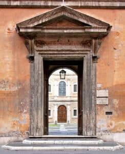 Entrance of Palazzo della Sapienza
