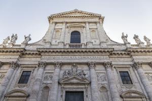 Exterior of San Giovanni dei Fiorentini in Rome, Italy