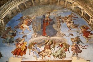 Filippino Lippi (1457-1504) - Assomption, fresque de Santa Maria sopra Minerva (Sainte-Marie sur la Minerve), 1489-91, Rome, Italy.