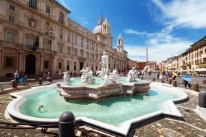 Fontana del Moro (the Moor Fountain) - Piazza Navona, Rome. Italy