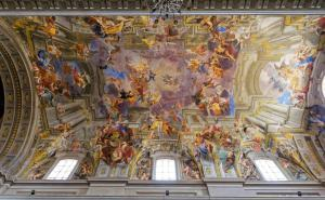 Frescoes of Andrea Pozzo on Sant'Ignazio Church ceilings,Rome, Italy