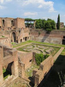 Garden of Domus Augustana in the Palatine Hill, Rome - Italy