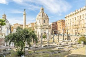 Imperial Forums. Trajan's Forum with Trajan's column and Ulpia Basilica