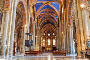 Interior of Santa Maria sopra Minerva, Rome, Italy.