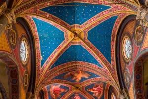 Interiors and architectural details of Santa Maria Sopra Minerva church