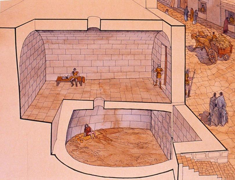 Le Carcer Tullianum - Illusturation by Jean Cloude Golvin .